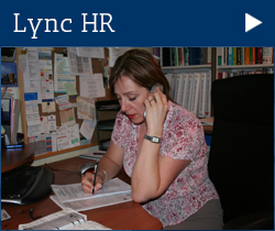 Link to Lync HR page about employment and human resources